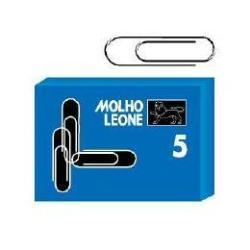 Trombones Molho Leone - Trombones - arrondi - No. 5 - 50 mm - nickelé - pack de 100
