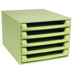 Exacompta Forever THE BOX - Bloc de classement à tiroirs - 5 tiroirs - A4 Plus, A4 Plus - vert anis