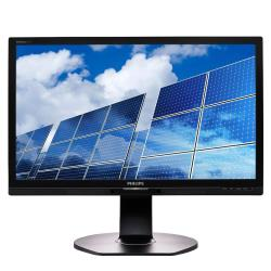 "Écran LED Philips Brilliance B-line 221B6QPYEB - Écran LED - 21.5"" - 1920 x 1080 Full HD (1080p) - AH-IPS - 250 cd/m² - 1000:1 - 5 ms - DVI-D, VGA, DisplayPort - haut-parleurs - noir texturé"