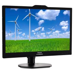 "Écran LED Philips S-line 221S6QYKMB - Écran LED - 22"" (21.5"" visualisable) - 1920 x 1080 Full HD (1080p) - AH-IPS - 250 cd/m² - 1000:1 - 5 ms - DVI-D, VGA, DisplayPort - haut-parleurs - noir texturé"