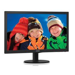 "Écran LED Philips V-line 223V5LHSB2 - Écran LED - 22"" (21.5"" visualisable) - 1920 x 1080 Full HD (1080p) - 200 cd/m² - 600:1 - 5 ms - HDMI, VGA - noir texturé, ligne de contour noire"