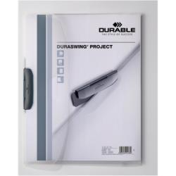 Porte-documents DURABLE DURASWING PROJECT - Chemise à clip - A4 - pour 30 feuilles - transparent