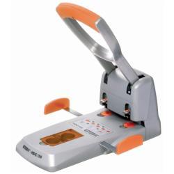 Perforatrice Rapid Supreme HDC150 - Perforateur - robuste - 150 feuilles - métal, plastique ABS - argenté(e), orange