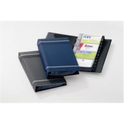Boîte à archive DURABLE VISIFIX - Classeur pour cartes de visite - 12 positions - A-Z - 57 x 90 mm - pour 200 cartes - à onglets - bleu foncé