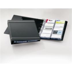 Boîte à archive DURABLE VISIFIX - Classeur pour cartes de visite - A-Z - 57 x 90 mm - pour 400 cartes - à onglets - Charbon