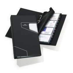 Boîte à archive DURABLE VISIFIX PRO - Classeur pour cartes de visite - 12 positions - A-Z - 57 x 90 mm - pour 200 cartes - à onglets - Charbon