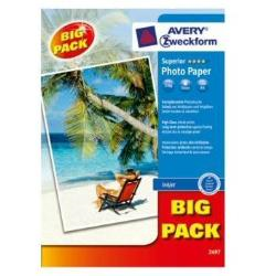 Papier Avery Zweckform Superior Inkjet Photo Paper 2497 - Papier photo - haute-brillance - blanc - A4 (210 x 297 mm) - 230 g/m² - 40 feuille(s)