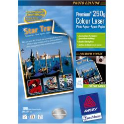 Papier Avery Zweckform Premium Colour Laser Paper 2498 - Papier photo - blanc - A4 (210 x 297 mm) - 250 g/m² - 100 feuille(s)