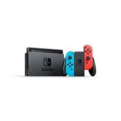 Console Nintendo Switch with Neon Blue and Neon Red Joy-Con - Console de jeux - Full HD - 32 Go flash - noir, rouge fluorescent, Bleu néon