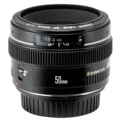 Objectif Canon EF - Objectif - 50 mm - f/1.4 USM - Canon EF - pour EOS 1000, 1D, 50, 500, 5D, 7D, Kiss F, Kiss X2, Kiss X3, Rebel T1i, Rebel XS, Rebel XSi