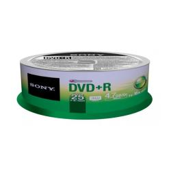 Sony 25DPR47SP - 25 x DVD+R - 4.7 Go ( 120 minutes ) 16x - spindle