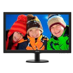 """Écran LED Philips V-line 273V5LHAB - Écran LED - 27"""" - 1920 x 1080 Full HD (1080p) - 300 cd/m² - 1000:1 - 5 ms - HDMI, DVI-D, VGA - haut-parleurs - noir texturé, ligne de contour noire"""