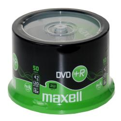 Maxell - 50 x DVD+R - 4.7 Go 16x - surface imprimable - spindle