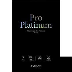 Papier Canon Photo Paper Pro Platinum - A3 (297 x 420 mm) - 300 g/m² - 20 feuille(s) papier photo - pour PIXMA Pro9000, Pro9500