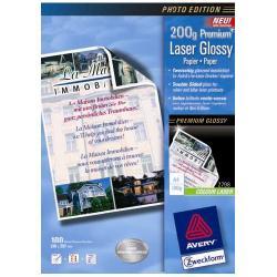 Papier Avery Zweckform Premium Colour Laser Paper 2798 - Papier - brillant - blanc - A4 (210 x 297 mm) - 200 g/m² - 100 feuille(s)