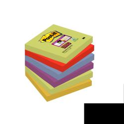 Post-it Post-it Super Sticky Marrakesh 654-6SS-MAR-EU - Notes - 76 x 76 mm - 540 feuilles (6 x 90) - Safran, pervenche, curry, mûre, vers asperge