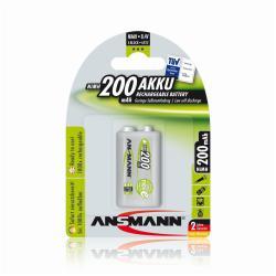 Pile ANSMANN maxE - Batterie 9V NiMH 200 mAh