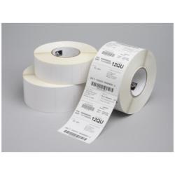 Étiquettes Zebra Z-Select 2000T - Étiquettes - mat - adhésif permanent en acrylique - enduit - perforé - blanc - 102 x 76 mm 11160 étiquette(s) (12 rouleau(x) x 930)