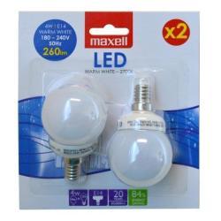 Lampadina LED Maxell - LED Globe 4W (25W) E14 x2