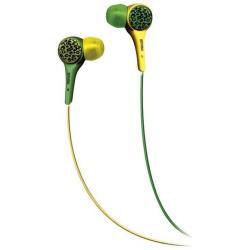 Oreillettes Maxell UltraThins - Casque - embout auriculaire - jack 3.5mm - vert, jaune léopard