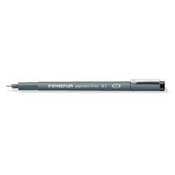 Stylo STAEDTLER pigment liner - Feutre fin - noir - encre pigmentée - 0.1 mm