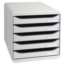 Meuble Exacompta BIG-BOX PLUS Classic - Bloc de classement à tiroirs - 5 tiroirs - A4 Plus