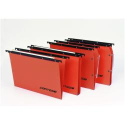 Porte-documents Bertesi Cartesio Plus - Dossier suspendu - base-V - à onglets - orange (pack de 25)