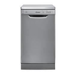 Lave-vaisselle Candy CDP 2L1047X-01 - Lave-vaisselle - pose libre - largeur : 45 cm - profondeur : 58 cm - hauteur : 85 cm - inox