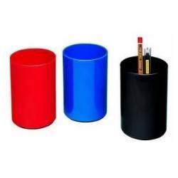Lebez - Pot à crayons - plastique ABS - disponible dans différentes couleurs (pack de 6)