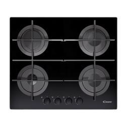 Plan de cuisson Candy CVG 64 STGN - Table de cuisson au gaz - 4 plaques de cuisson - Niche - largeur : 56 cm - profondeur : 48 cm - noir - noir