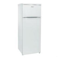 Réfrigérateur Candy CCDS 5142 W - Réfrigérateur/congélateur - pose libre - largeur : 55 cm - profondeur : 58 cm - hauteur : 143 cm - 204 litres - congélateur haut - classe A+ - blanc