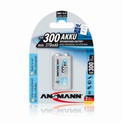 Pile ANSMANN maxE plus - Batterie 1 x 9V NiMH 250 mAh