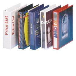 Boîte à archive Esselte DISPLAY - Classeur à anneaux personnalisable - 45 mm - A4, 245 x 305 mm - pour 100 feuilles - blanc