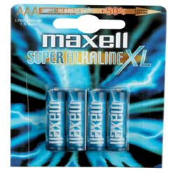 Pile Maxell Alkaline Ace LR03 - Batterie 4 x AAA Alcaline