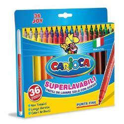 Carioca Joy - Feutre - non permanent - couleurs brillantes assorties - 2.6 mm - fin - pack de 36