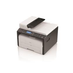 Imprimante laser multifonction Ricoh SP 220SNw - Imprimante multifonctions - Noir et blanc - laser - Legal (216 x 356 mm) (original) - A4/Legal (support) - jusqu'à 23 ppm (copie) - jusqu'à 23 ppm (impression) - 150 feuilles - USB 2.0, LAN, Wi-Fi(n), NFC