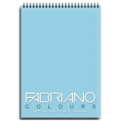 Blocco Fabriano - Colours A6 Notes Celeste Confez.5pz