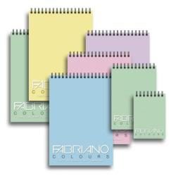 Classeur Fabriano Colours - Bloc - A5 - 100 feuilles - bleu
