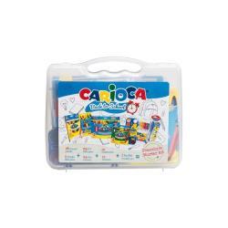 Stylo Carioca Back to school - Ballpoint pen, colored pencil, crayon, fiber-tip pen and paint set - couleurs assorties - pack de 97