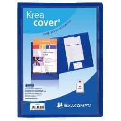 Porte-documents Exacompta KreaCover - Chemise à 2 rabats - A4 - bleu