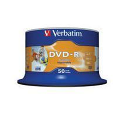 Verbatim - 50 x DVD-R - 4.7 Go 16x - surface imprimable photo large - spindle