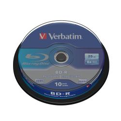 Foto Blu-ray disc Blu ray disc 25gb 6x spindle 10 Verbatim