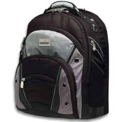 """Sacoche Manhattan Sydney Notebook Computer Backpack - Sac à dos pour ordinateur portable - 15.4"""" - noir, argenté(e)"""