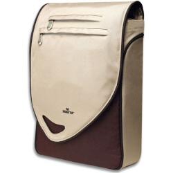 "Sacoche Manhattan Maya Notebook Computer Messenger Bag - Sacoche pour ordinateur portable - 15.4"" - rouge, brun clair"
