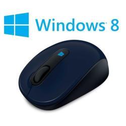 Souris Microsoft Sculpt Mobile Mouse - Souris - optique - 3 boutons - sans fil - 2.4 GHz - récepteur sans fil USB - bleu (Wool Blue)