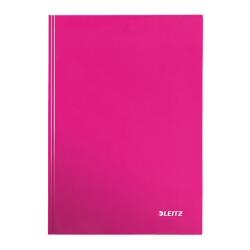 Classeur Leitz WOW - Cahier - A4 - 80 feuilles - quadrillé - rose métallisé - carton