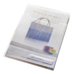 Porte-documents Leitz Premium - Pochette perforée - extensible - A4 - pour 200 feuilles - clair (pack de 10)