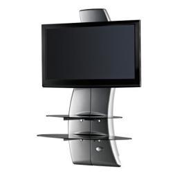 """Support pour LCD Meliconi Ghost Design 2000 - Pied pour écran plasma / LCD - verre, chrome - argenté(e) - Taille d'écran : 32"""" - 63"""""""