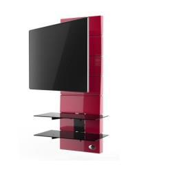 """Support pour LCD Meliconi Ghost Design 3000 Rotation - Montage mural pour écran LCD / plasma / système AV - rouge - Taille d'écran : 32""""-63"""" - Interface de montage : jusqu'à 400 x 400 mm"""