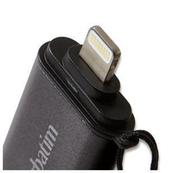 Clé USB Verbatim iStore 'n' Go Dual USB Flash Drive for Lightning Devices - Clé USB - 64 Go - USB 3.0 / Lightning - graphite